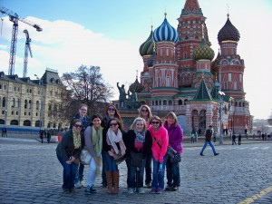 2013-2014 Nursing Students in Red Square, Moscow