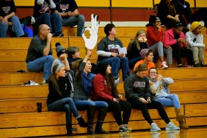 A few fans show their support at Hesston's Nov. 15 game against Sterling JV. Photo by Masayo Satoh