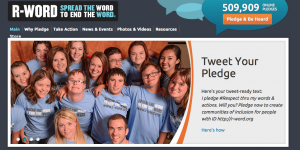 "R-word.org is one organization advocating for the elimination of the word ""retarded."""