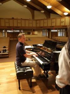 Bradley Kauffman is finishing his final semester at Hesston College. Photo by Eleya Raim.