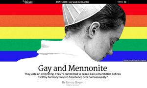 "A recent article in ""The Atlantic"" explained the division in the Mennonite church on the topic of homosexuality. They're not the only group having a hard time with the issue. Are we all talking about this in the wrong way?"
