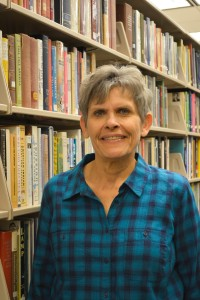 Margaret Wiebe, library director at Hesston College. Photo by Olivia Copsey