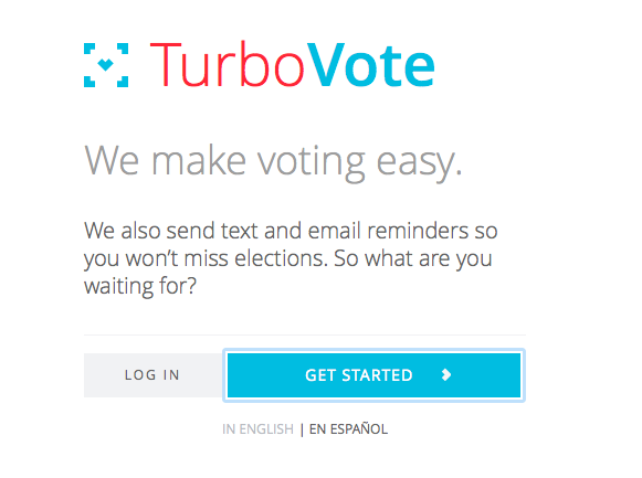 Sites like TurboVote take you through an easy process of registration.