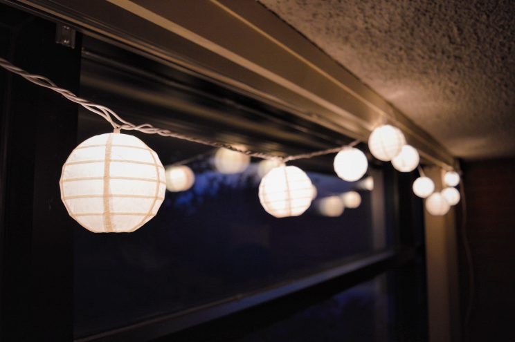Anna Breckbill decorated her room with some paper lanterns.