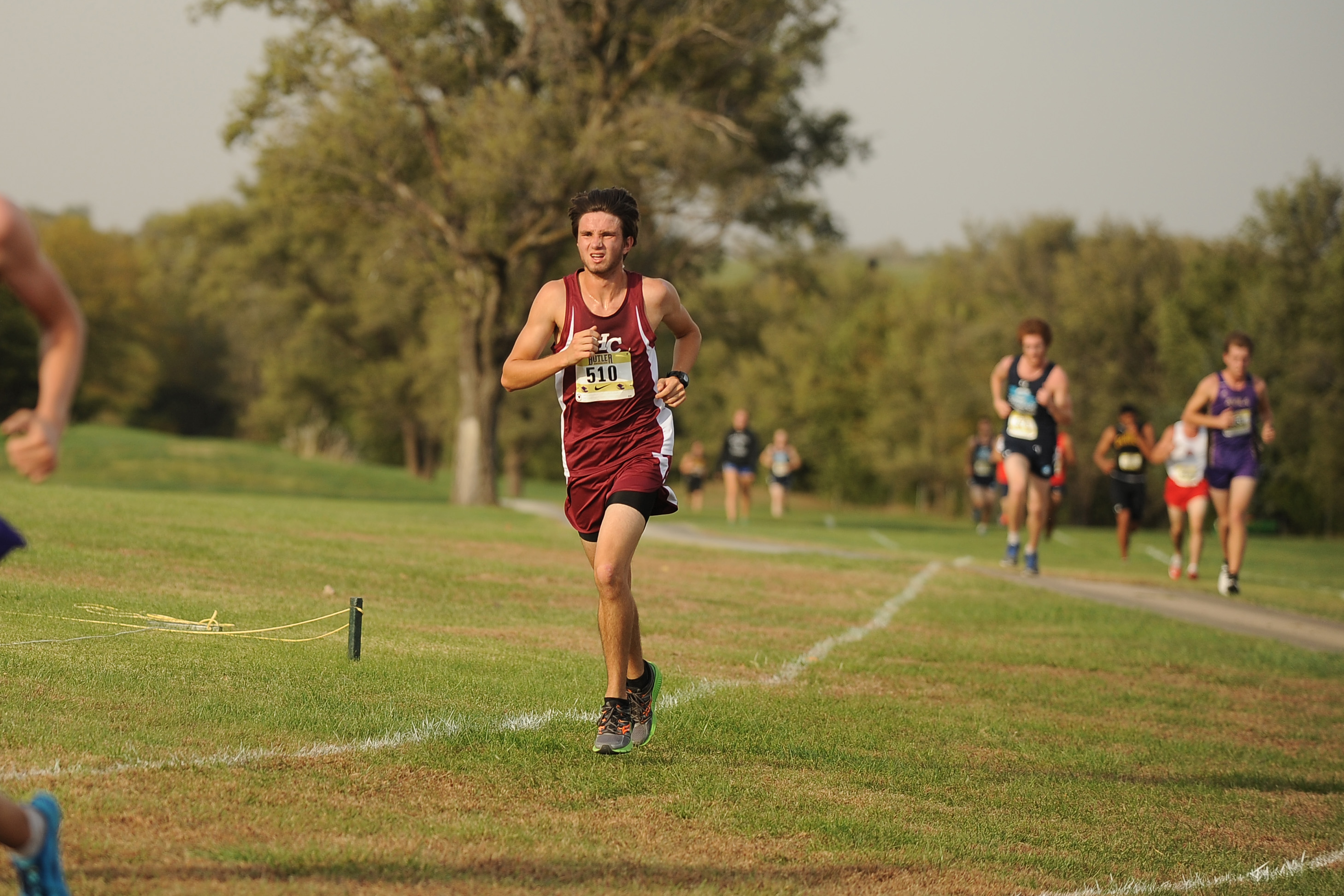 Kyle Good competes in the Butler Invitational at El Dorado. Photo by Larry Bartel