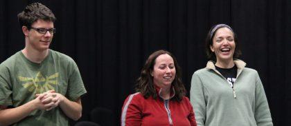 Alum JD Hershberger, Rachel Jantzi and Laura Kraybill