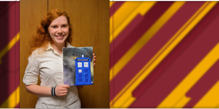 Emily Griffeon shares a piece of decorative art from her dorm room