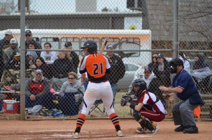Ally Steiner at catcher