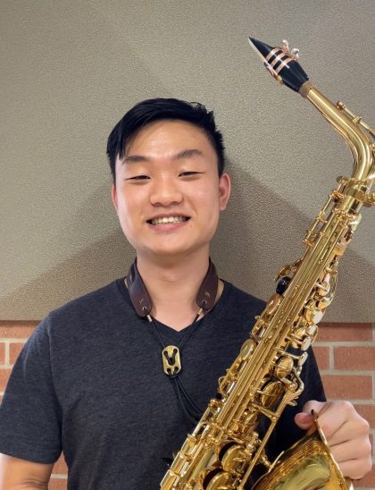 "Tom Tien Lo, SO (Taiwan) ""I played since I was junior high. This saxophone has been with me in every competitions and concerts so this reminds me of my good memories with my friends in Taiwan."""