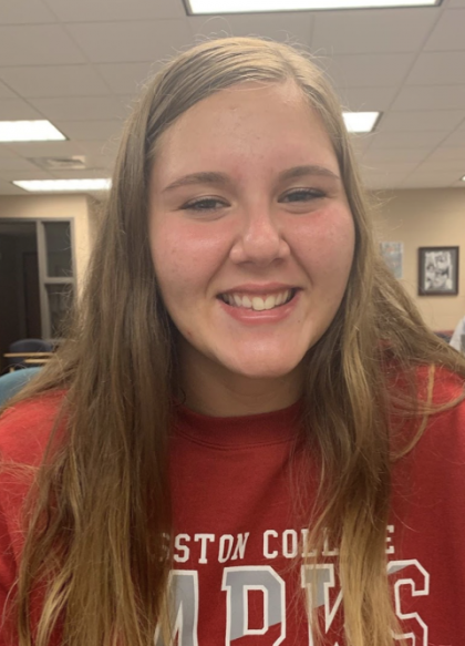 """I really love the new court and how its centered in the gym and not off to the side like last year. It makes playing volleyball alot more enjoyable, but the floor is not very easy to dive on."" -Madison Ward, freshman volleyball player"
