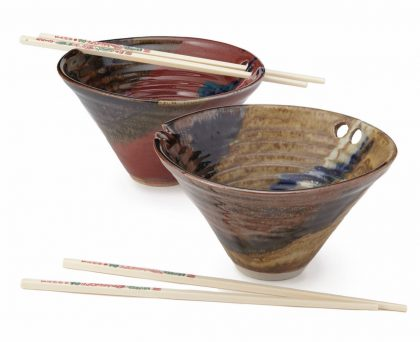 Handmade Noodle Bowl with Chopstick ($25.00): I always wanted one of this to eat my ramen with