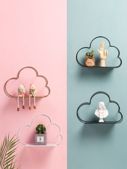 "Cloud Shaped Wall Storage Rack ($7.95) ""This looks very aesthetically pleasing instead of regular shelves."""