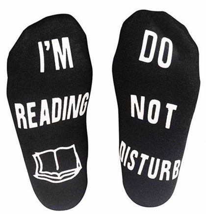 Socks- ($9.89): No longer will you be interrupted by someone asking what you are doing.  Clearly show them you are not to be disturbed.