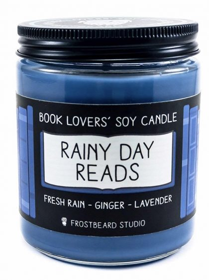 Candle ($18.00):  Create an atmosphere that makes you feel like you are surrounded by a large library even when you cannot get away.